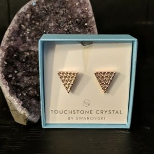 Touchstone Crystal by Swarovski Triangle Pave Stud